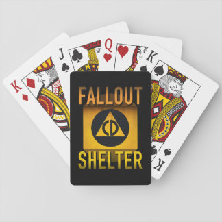 Civil Defense Fallout Shelter Atomic Age Grunge : Playing Cards