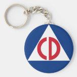 civil defense Keychain