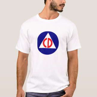 Civil Defense Logo Tee Shirt