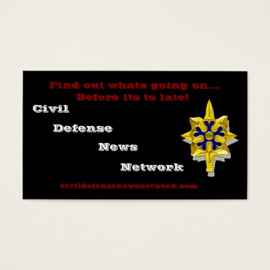 Civil Defense News Network Business Card