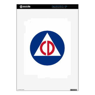 civil defense Skin Skin For The iPad 2