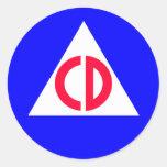 Civil Defense Stickers