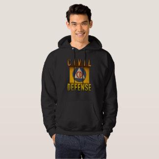 Civil Defense Symbol Retro Atomic Age Grunge : Hoodie
