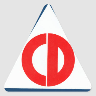 Civil Defense Triangle Triangle Sticker