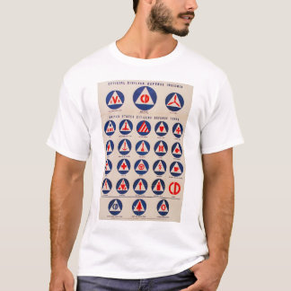 Civil defense WWII poster t-shirt