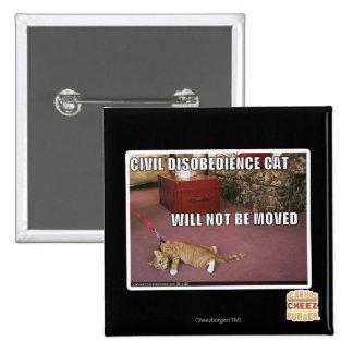 Civil Disobedience Cat Button