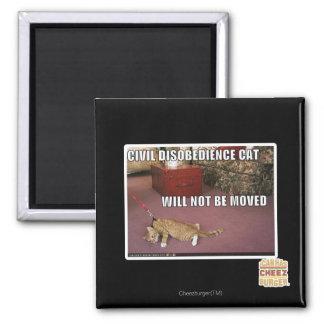 Civil Disobedience Cat Magnet