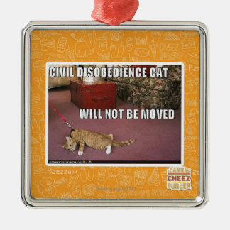 Civil Disobedience Cat Metal Ornament
