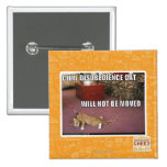 Civil Disobedience Cat Pinback Button