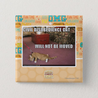 Civil Disobedience Cat Pinback Button