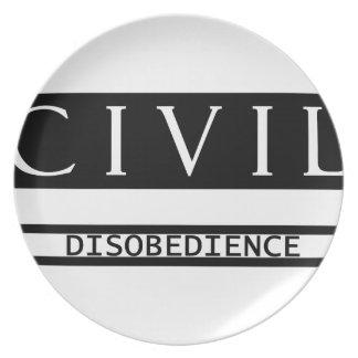 Civil Disobedience Melamine Plate