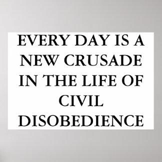 CIVIL DISOBEDIENCE POSTER