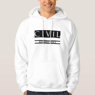 Civil Disobedience White Hoodie