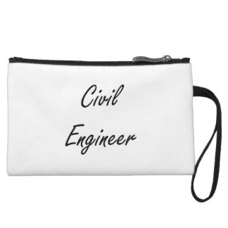 Civil Engineer Artistic Job Design Wristlet Clutches