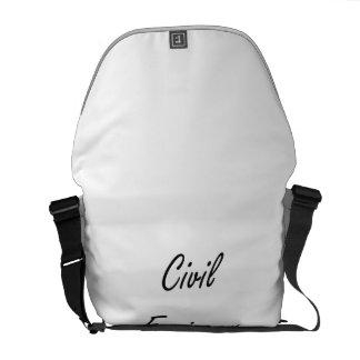 Civil Engineer Artistic Job Design Courier Bags