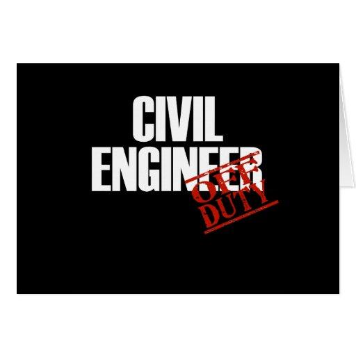 CIVIL ENGINEER DARK GREETING CARD