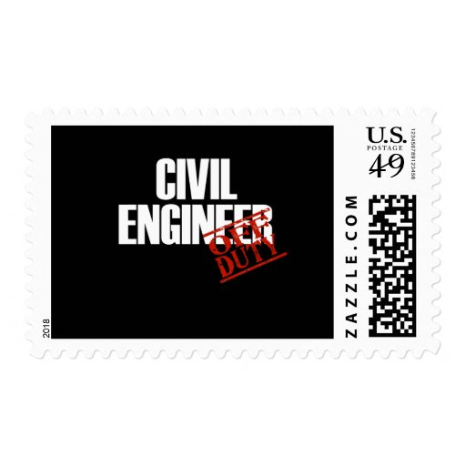 CIVIL ENGINEER DARK POSTAGE STAMP
