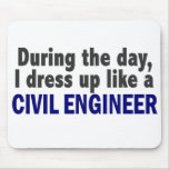 Civil Engineer During The Day Mousepads