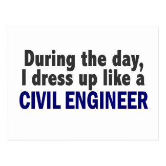 Civil Engineer During The Day Postcard