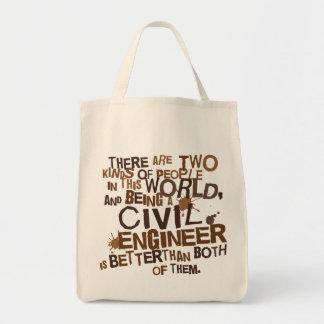 Civil Engineer Gift Grocery Tote Bag