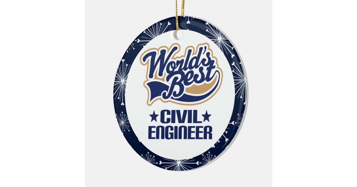 Civil engineer gift ornament zazzle