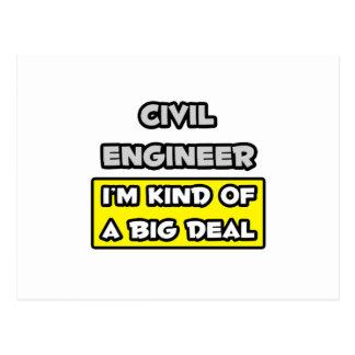 Civil Engineer .. I'm Kind of a Big Deal Postcard