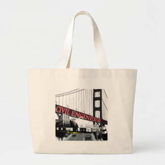 Civil Engineer Large Tote Bag