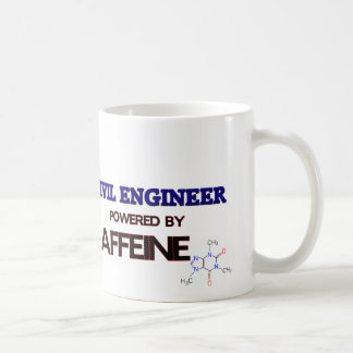 Civil Engineer Powered by caffeine Classic White Coffee Mug
