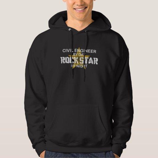 Civil Engineer Rock Star Hoodie