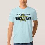 Civil Engineer Rock Star T-Shirt