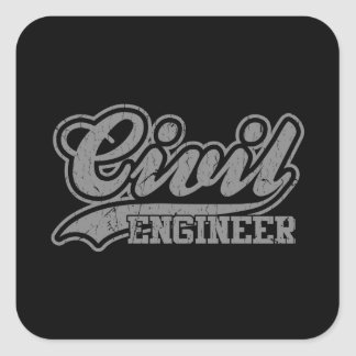 Civil Engineer Square Sticker