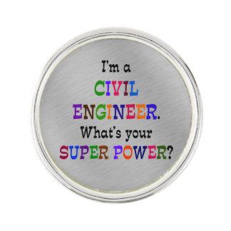 Civil Engineer Super Power Pin