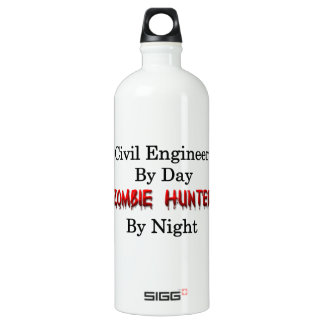 Civil Engineer/Zombie Hunter Aluminum Water Bottle