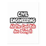 Civil Engineering...All The Cool Kids Postcard