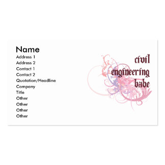 Civil Engineering Babe Double-Sided Standard Business Cards (Pack Of 100)