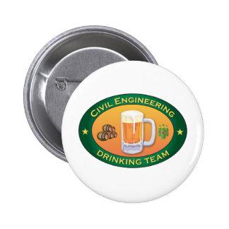 Civil Engineering Drinking Team Pinback Button