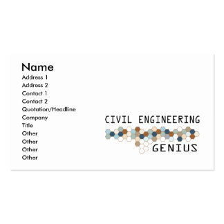 Civil Engineering Genius Double-Sided Standard Business Cards (Pack Of 100)