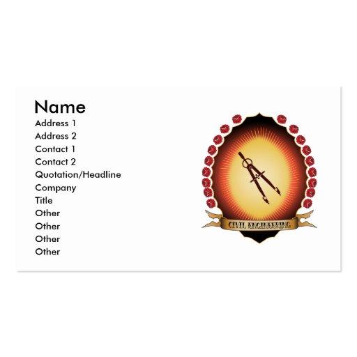 Civil Engineering Mandorla Business Card