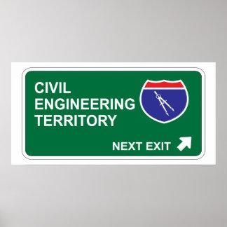 Civil Engineering Next Exit Posters