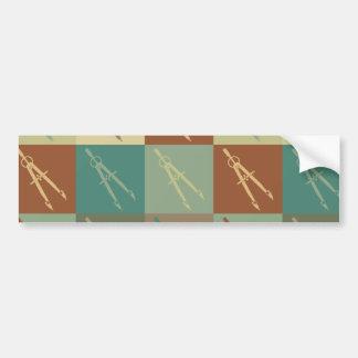 Civil Engineering Pop Art Bumper Sticker
