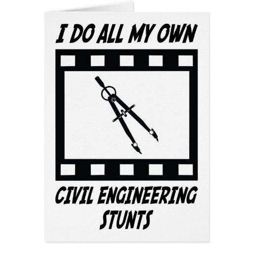 Civil Engineering Stunts Card