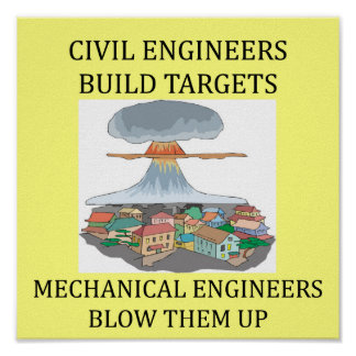 CIVIL engineers build targets Poster
