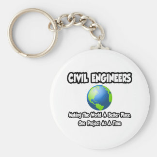 Civil Engineers...Making World a Better Place Key Chain