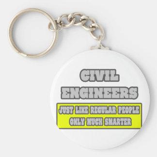 Civil Engineers...Much Smarter Basic Round Button Keychain