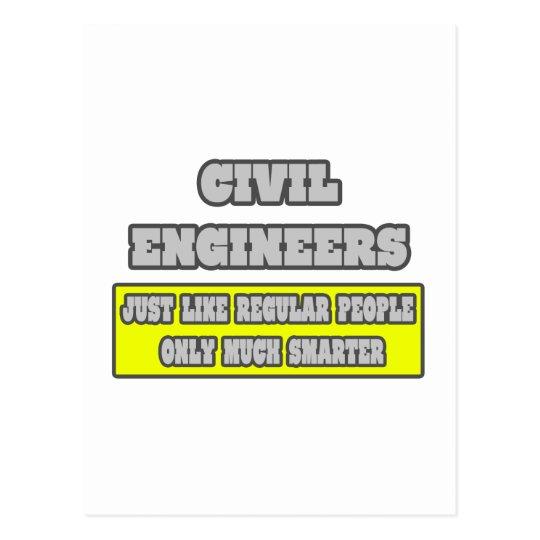 Civil Engineers...Much Smarter Postcard