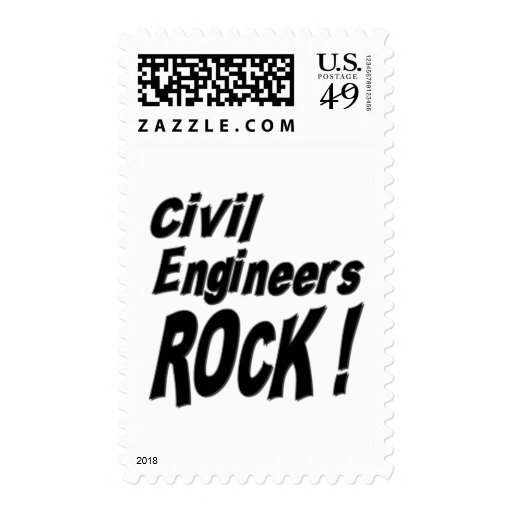 Civil Engineers Rock ! Postage