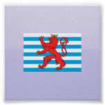 Civil Ensign Luxembourg, Luxembourg Poster