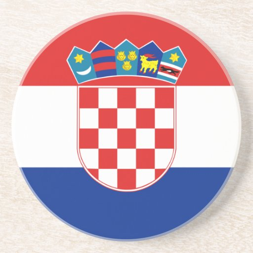 Civil Ensign Of Croatia, Croatia flag Beverage Coaster