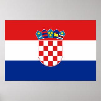 Civil Ensign Of Croatia, Croatia flag Poster