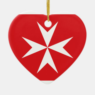 Civil Ensign Of Malta, Maldives flag Ceramic Ornament